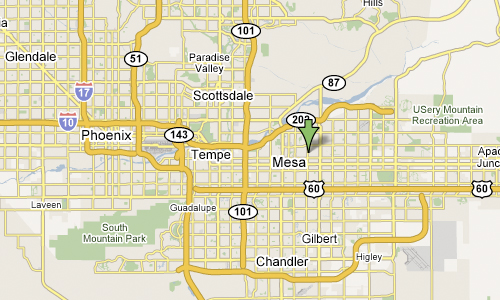 Map of Greater Phoenix Area